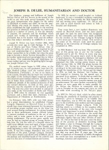 Scanned page of a eulogy for DeLee.