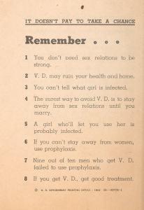 Sex Hygiene and Venereal Disease, 1943