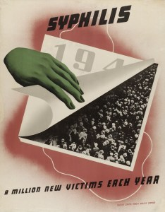 An illustration of a green hand pulling up a calendar page to reveal a b&w photo reproduction showing a large crowd of people.