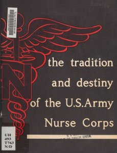 The cover of a pamphlet illustrated with a caduceus overlaid with a capitol N.
