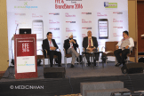 (L-R) Deep Bhandari - SBU Head, UCB; Jagmohan Singh Rishi - AVP L&D Business Analytics and Digital, Wokhardt; Amitabh Sinha - COO, GlobalSpace Technologies; Anup Soans - Editor, MedicinMan