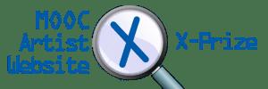 Artist Website Challenge: MOOC Artist-Scholar Website-Blog X-Prize logo