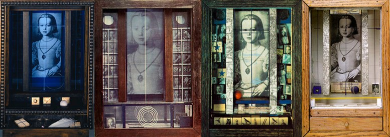 Cornell boxes by Joseph Cornell featuring my sister Bia Medici