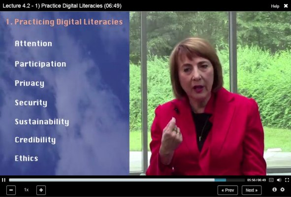 screencap of FutureED video lecture by Cathy N. Davidson