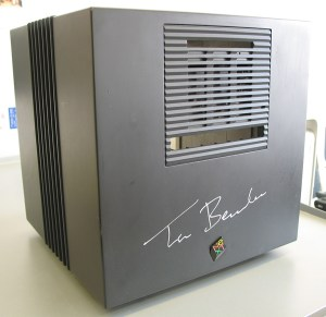 photo of a NeXT cube signed by Tim Berners-Lee