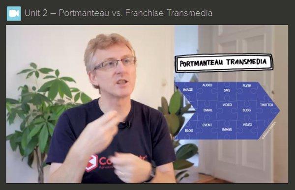 vidcap of Robert Pratten explaining Transmedia Storytelling
