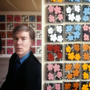 Andy Warhol with Flowers
