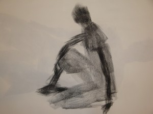 charcoal drawing on paper.