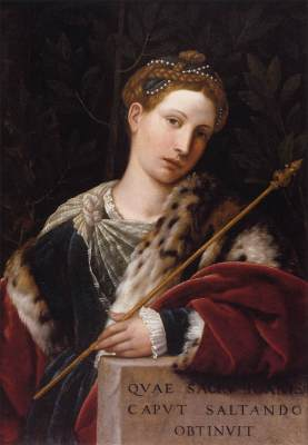 Tullia d'Aragona, portrayed as Salome L'Erodiade by Moretto da Brescia, 1537