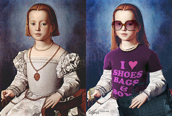 portraits of my sister Bia Medici: in the 16th century and in the 21st century
