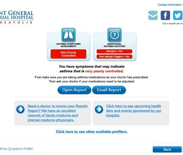 Asthma Symptoms Profiler