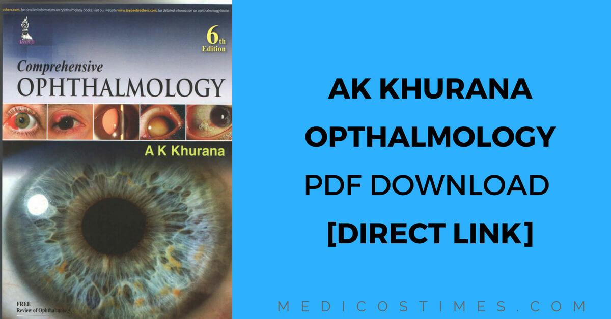 AK Khurana Comprehensive Ophthalmology PDF Download [Direct Link ...