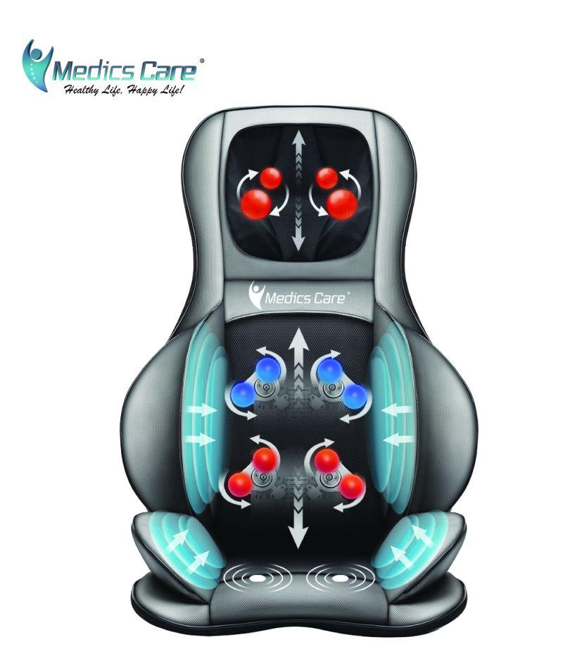 מושב עיסוי שיאצו מולטיפונקציונלי + כריות אוויר MEDICS CARE MC-2309