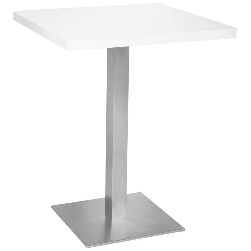 table de bar table bistro en mdf blanc 60x60x75 m bt60 1855