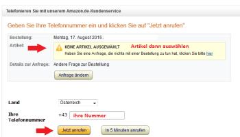 AMAZON Rckruf KUNDENSERVICE Sofort Telefonieren Mit Amazon So Gehts