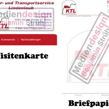 Kurier- & Transportservice Lindenlaub Visitenkarte & Briefpapier