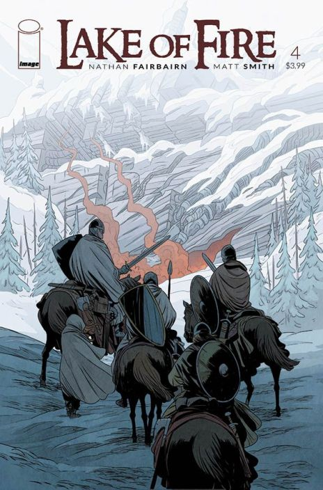 Lake of Fire #4, by Nathan Fairbairn and Matt Smith (2016): features Albigensian crusaders, a Cathar heretic and alien invaders in the year 1220