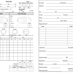 optometrist test sheet