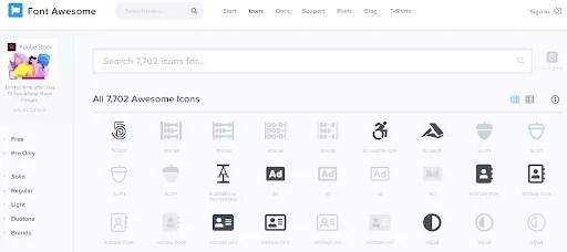 Font Awesomeで使えるアイコン一覧