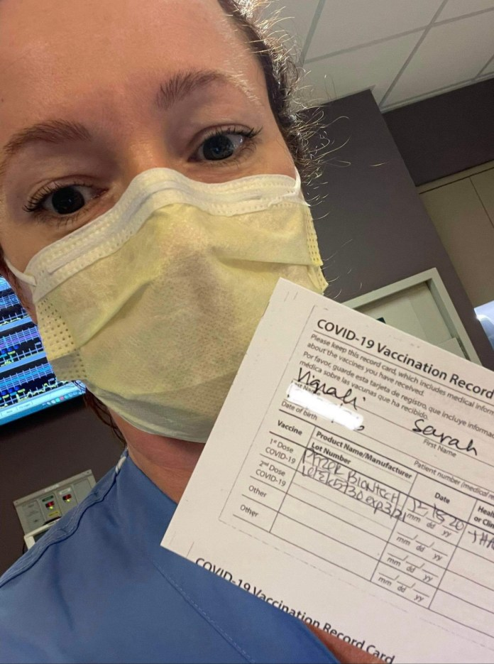 Sarah Vignali #vaccinechallenge