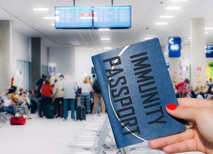 An immunity passport card