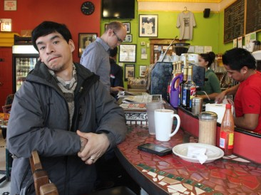 "Jose Mendez says he was one of the first customers at Cafe Jumping Bean when he started coming in as a teenager. Now 36, Mendez has become one of the cafe's regulars. ""It feels like a family here,"" he says."