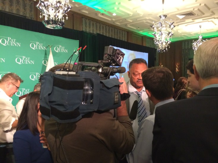Prominent members of the community, including the Rev. Jesse Jackson showed up to support the governor.