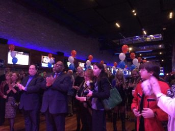 Supporters cheer Jesse White's victory.