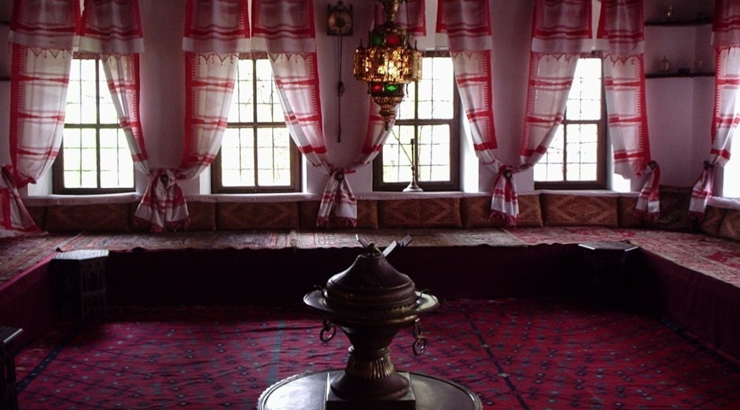 The interior of an upper floor in a traditional house in Sarajevo, Bosnia. Image