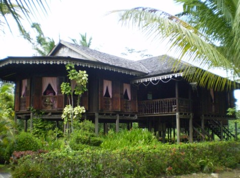 Traditional Malay house Image.