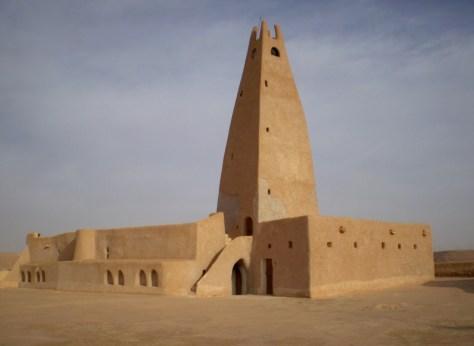 An austere mosque Image in Ghardai'a, Algeria