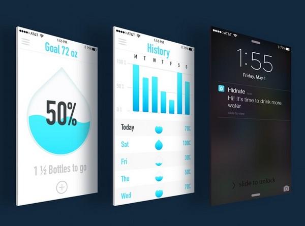 HidrataMe, una botella inteligente que te ayuda a hidratarte g
