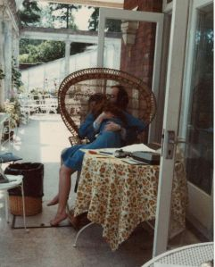 """In Memory of my Dad, who I loved with all my heart and soul ... Dad and Me 1979 on the back veranda of Abbots Mead."""