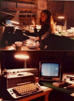 Vivian's 'Making The Shining' cutting room, 1979