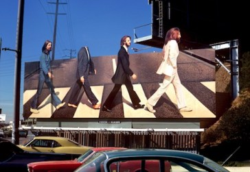 Beatles Sunset Strip Billboard for Abbey Road