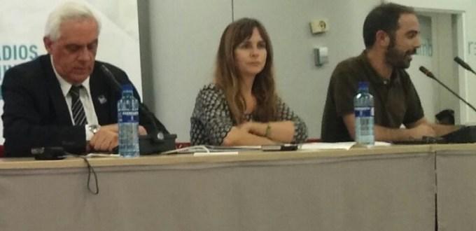 María Limón, presidenta de la ReMC, durante el IV encuentro de radios universitarias de América Latina y Caribe