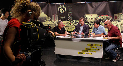Un programa en la TV comunitaria Tele K (Madrid).