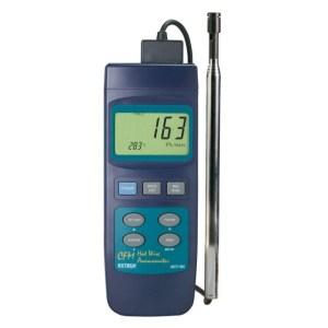Termoanemómetro de hilo electrocalentado en CFM de gran capacidad