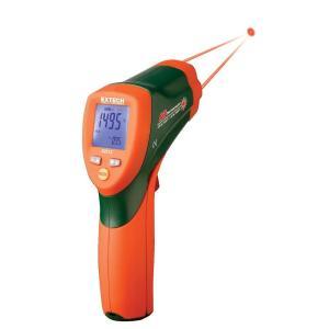 42512: Termómetro de infrarrojos de doble láser Termómetro de infrarrojos 30:1 de respuesta rápida con pantalla LCD retroiluminada doble
