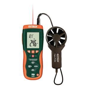Termoanemómetro CFM/CMM con termómetro de infrarrojos incorporado