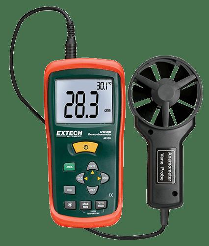 Termoanemómetro miniatura en CFM/CMM