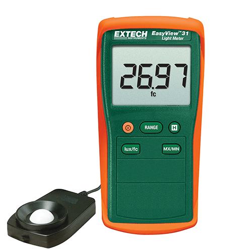 EA31: Fotómetro EasyView™ Medición de luz hasta 20 000 Fc/20 000 Lux