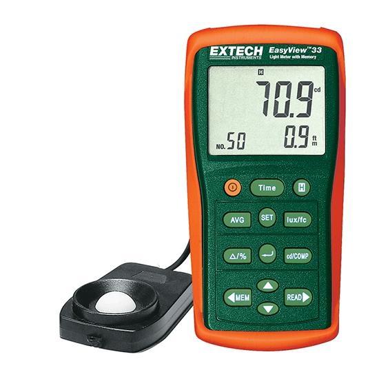 EA33: Fotómetro con memoria EasyView™ Mediciones de luz de la más alta intensidad hasta 99.990 Fc/999.900 Lux