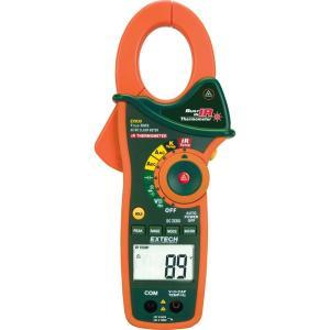 Multímetro de pinza de CA/CC con termómetro de infrarrojos sin contacto incorporado