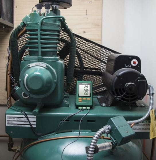 Registrador de datos de presión de 3 canales