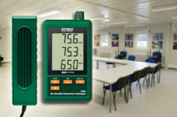 Registrador de datos para temperatura/CO2/Humedad