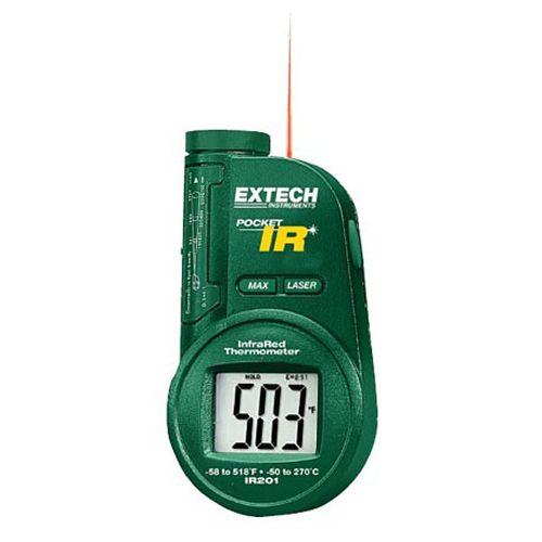 IR201A: Termómetro de infrarrojos de bolsillo Termómetro de infrarrojos de 6:1 con emisividad ajustable y alarma alta