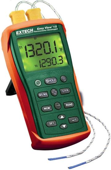 Registrador de datos de temperatura de entrada doble EasyView