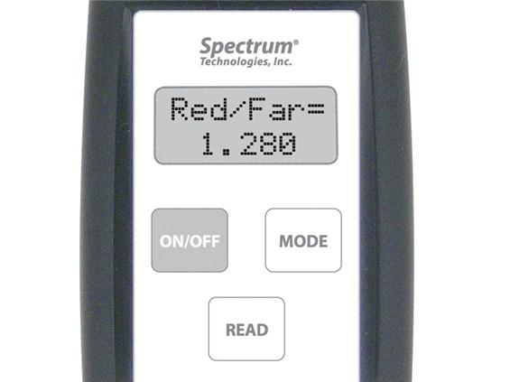 Medidor de luz roja rojo lejano