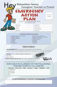 anaphylaxis action plan poster